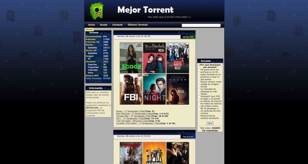 Web Oficial Mejor Torrent